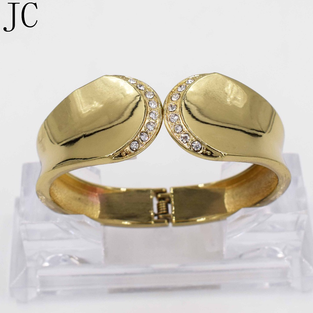 JC Vintage Dubai Gold Plated Bangles Unique Wire Drawing 2015 New Sale Cuff Bangle Hot Fashion