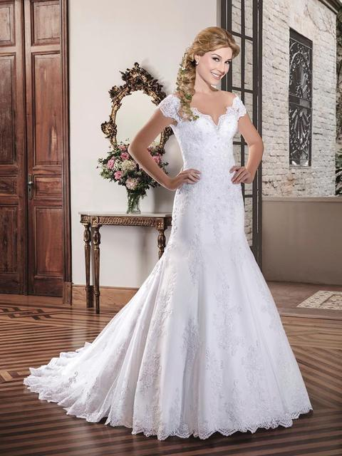 US $189.0  Arabic Style Plus Size Wedding Dresses 2017 Bling Beading  Wedding Gowns Chapel Train Illusion Back Beach Bridal Gown-in Wedding  Dresses ...