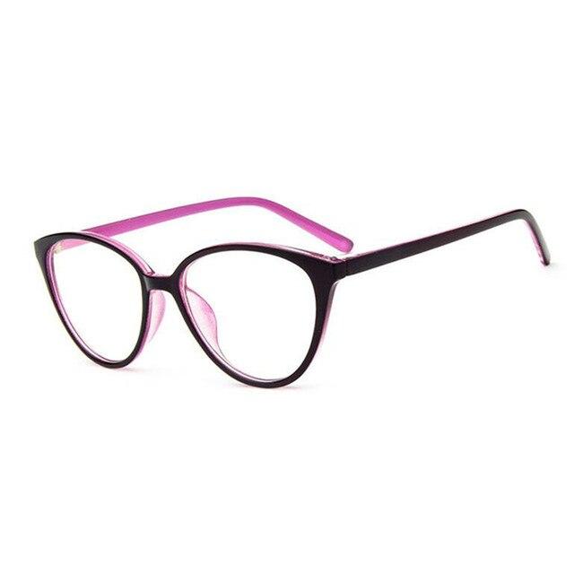 9fe192acc0eb5 Fashion Hot Sale Women s Cat Eye Glasses Transparent Spectacle Frames Can  Be With Myopia Lenses Eyeglasses Retro Men Eyewear