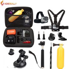 Go pro Accessories Monopod Head Chest Kit For Sony HDR AS20 AS30V AS100V Xiaoyi Gopro 3/3+/4 Session SJ4000 M10 M20 Action Cam gopro accessories family kit for sony hdr as30v hdr as100v as200v as20v x1000v gopro hero 5 4 3 3 sj4000 sj5000 action camera