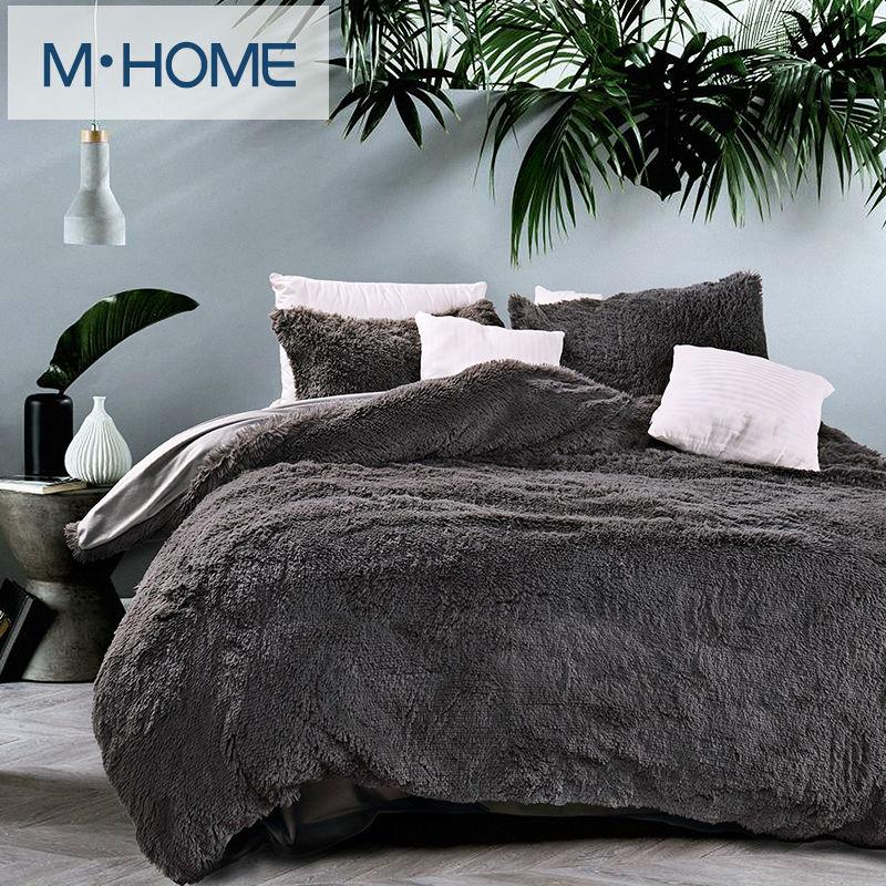 Online get cheap velvet bed cover for Grey velvet comforter