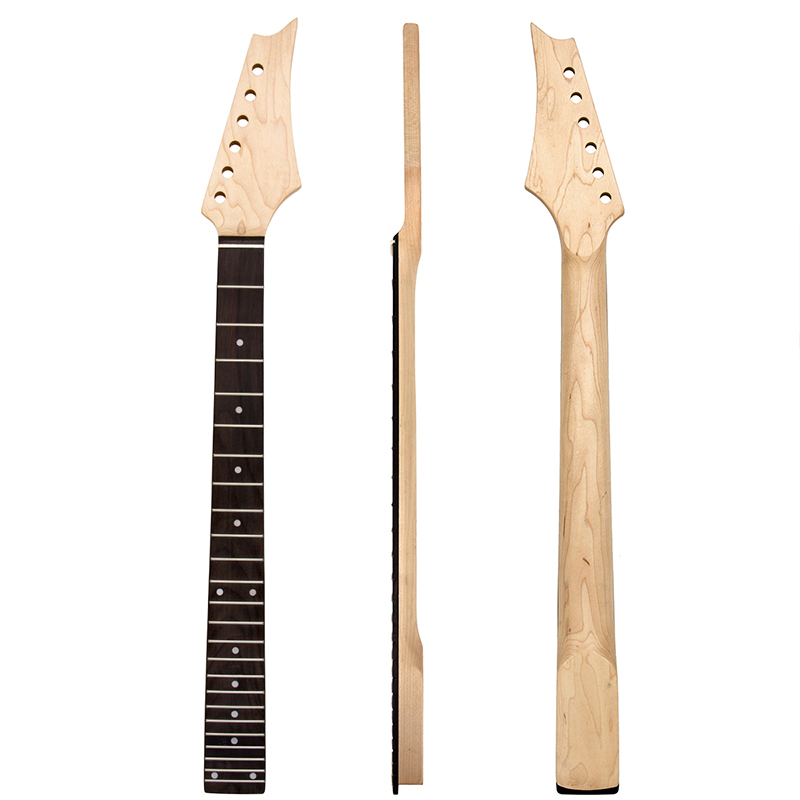 Electric Guitar Neck 24 Frets Rosewood Fretboard for 6 String Electric Guitar Gloss Finish