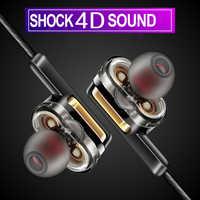 TEBAURRY X3 Dual Driver Auricolare Super Bass Auricolare Stereo Auricolari Con Micrpphone fone de ouvido HIFI Trasduttore Auricolare per il telefono