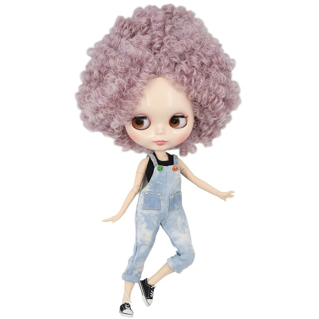 ICY Neo Blythe Doll Purple Pink Afro Hair Jointed Body