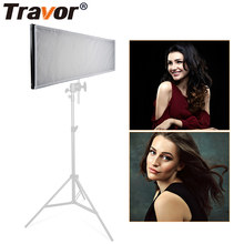 Luz de vídeo conduzida flexível de travor FL-3090A/estúdio de iluminação/576 luz de vídeo conduzida bicolor 3200 k-5500 k 2.4g iluminação de fotografia