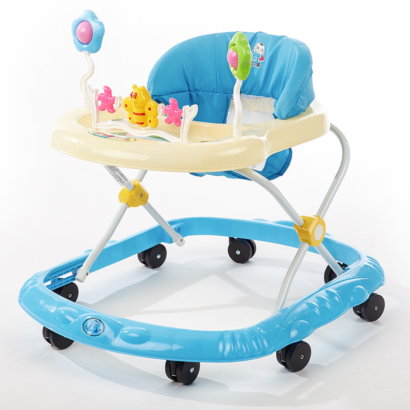 2018 Hot Baby Toddler Multi-function Folding Mute Baby Walker Baby Walker with Wheels Sleigh Stroller for Dolls Andador Cart
