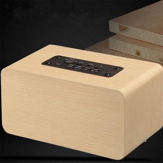 Aniwk Retro Wood Wireless Bluetooth Speaker Portable Speaker bluetooth altavoz Mini 3D Dual Loudspeakers USB Charging enceinte