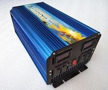 Free Shipping Pure Sine Wave Power Inverter 3000W DC12V/24V to AC110V/220V Solar Inverter dual digital display
