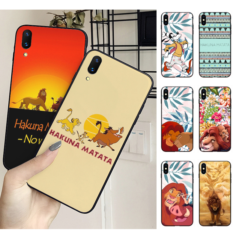 MaiYaCa The <font><b>Hakuna</b></font> <font><b>Matata</b></font> <font><b>Lion</b></font> <font><b>King</b></font> Case Silicone Cover For iphone X XS XR XSMAX 8 8plus 7 7plus 6s 6s Plus 5 5s SE image