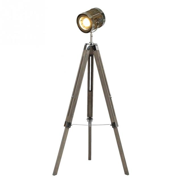Retro tripod floor lamp lights searchlight floor light wood tripod retro tripod floor lamp lights searchlight floor light wood tripod floor stand lamp stand ceiling lighting aloadofball Gallery