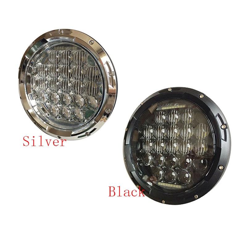 7 Inch Putaran LED Headlight 75W 5D Tinggi rendah Putih Angel Eye - Lampu mobil - Foto 1