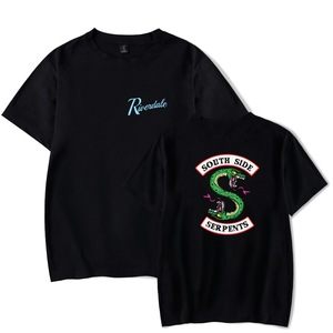 Men T Shirt Summer Style Tops Riverdale South Side Serpents T-Shirt For Man Jughead Jones Archie Andrews Tee Tops (Two Side)(China)