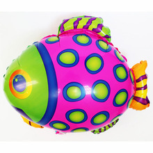 Hot inflatable air fish balloon 10pcs/lot wholesale globos birthday party supplies spotted shaped baloes baby shower baloon
