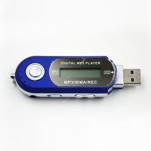 MiNi USB TF Card Slot Car MP3 AAA Battery Support USB Flash Car MP3 Player With FM Radio Read TF Card MAX to 32GB With Earphone
