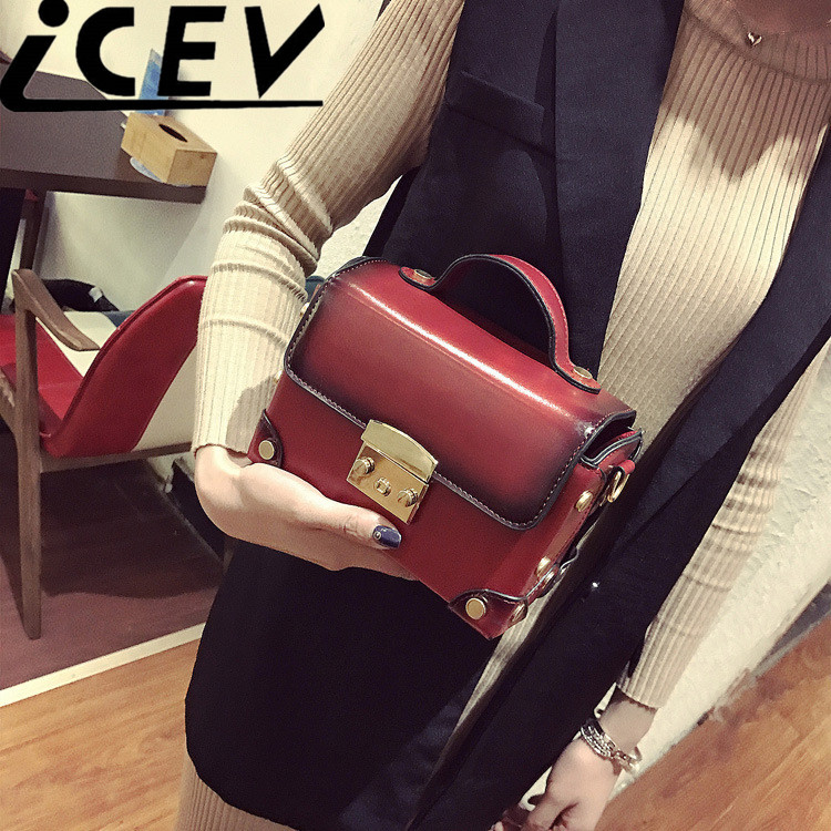 ФОТО 2017 New Vintage Flap Women Leather Bags Handbags Women Famous Brand Designer Handbags High Quality Bags Women Messenger Bag Sac