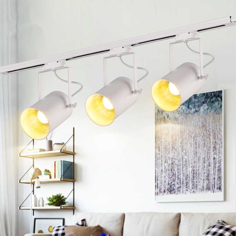 Modern LED COB Ceiling Lights Iron White Ceiling Lamp clothing Track Lamp Spot lights retro rail potlight luminaria Kitchen lampModern LED COB Ceiling Lights Iron White Ceiling Lamp clothing Track Lamp Spot lights retro rail potlight luminaria Kitchen lamp