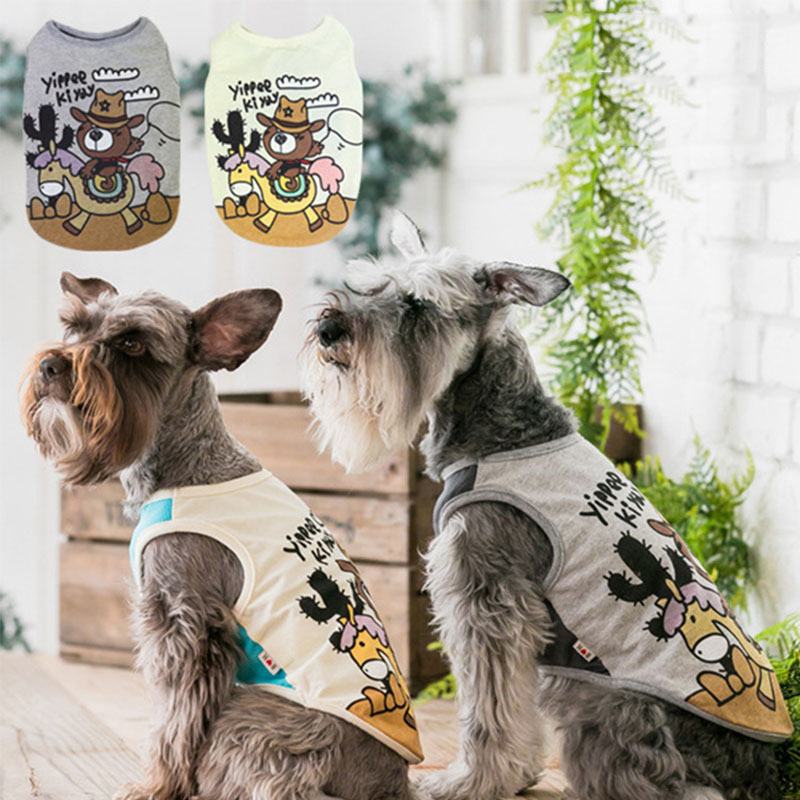 Dog Clothes for Small Dogs French Bulldog Vest Cute Chihuahua Clothing Petite Dog Clothes Kawaii Cartoon Pattern Dog Costume 2XL