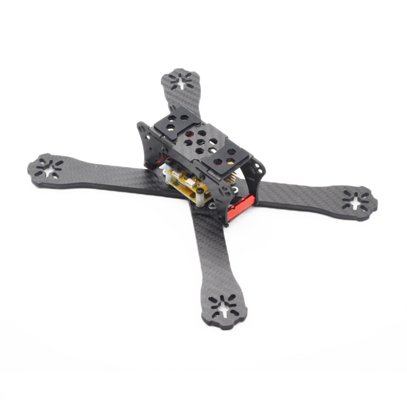 QAV-RL220 220mm Wheelbase 4mm Arm 3K Carbon Fiber FPV Racing RC Drone Frame Kit for RC Racer Quadcopter DIY