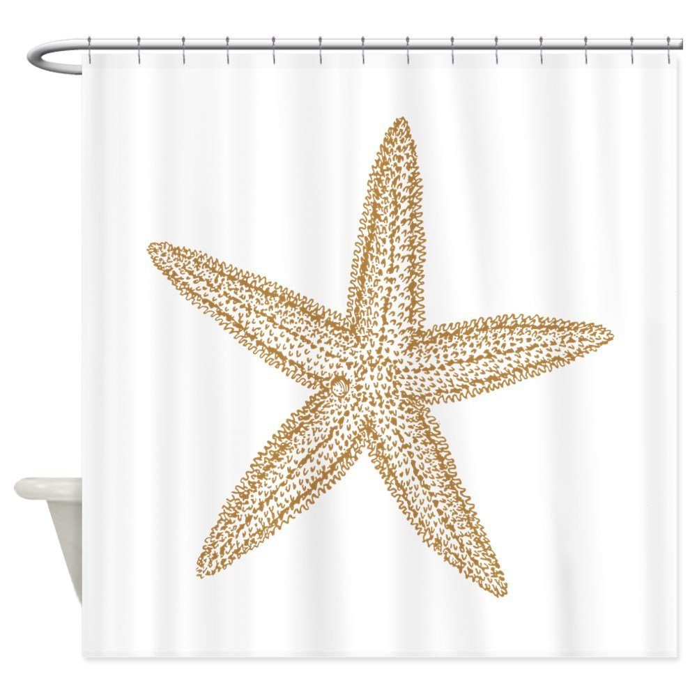 Sand Starfish - Decorative Fabric Shower Curtain (69x70)