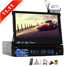 Single Din Car stereo with DVD CD Player Bluetooth Car Stereo 7 inch Capacitive Touch Screen Support AM FM Radio GPS Navigation
