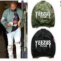 Moda de nova Homens Jaqueta de Hip Hop Marca Homens Jaqueta de Camuflagem Jaqueta de Vôo Da Força Aérea Bombardeiro YEEZUS Kanye West Yeezy Jaqueta