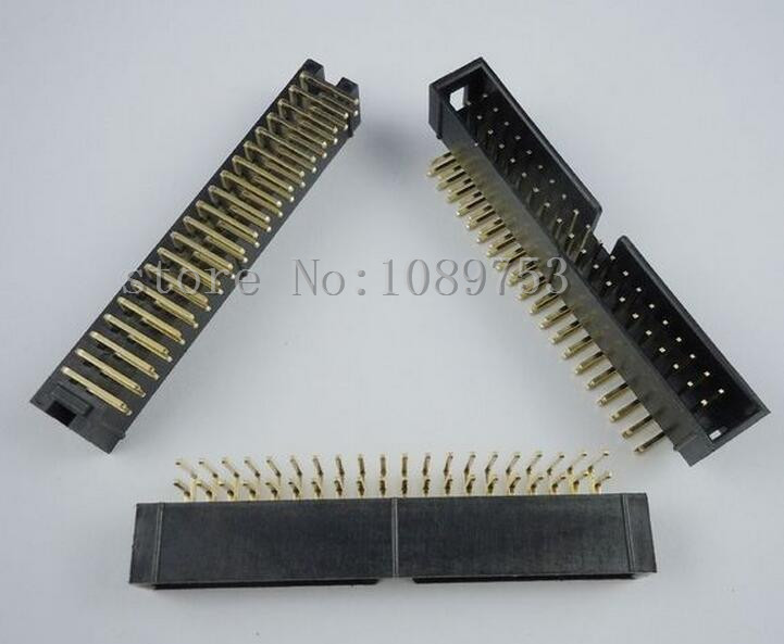 100pcs 2.54mm 2x20 40 Pin Right Angle Male Shrouded PCB Box header IDC Connector набор jtc 4050