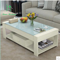 Special packages mailed Contracted and contemporary tea table of toughened glass tea table creative rural small family sitting r