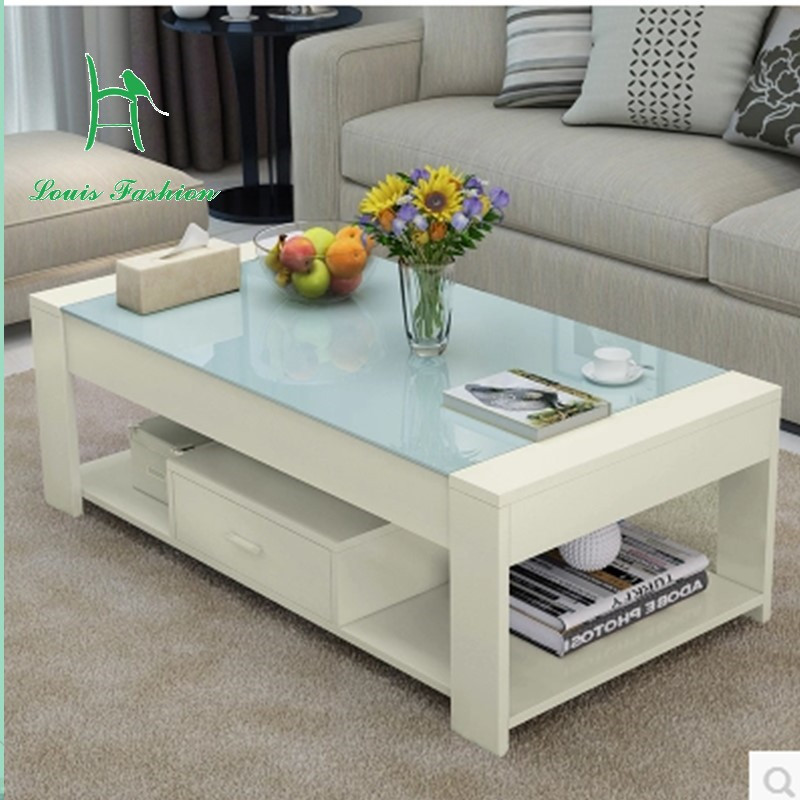Special Packages Mailed Contracted And Contemporary Tea Table Of Toughened Glass Creative Rural Small