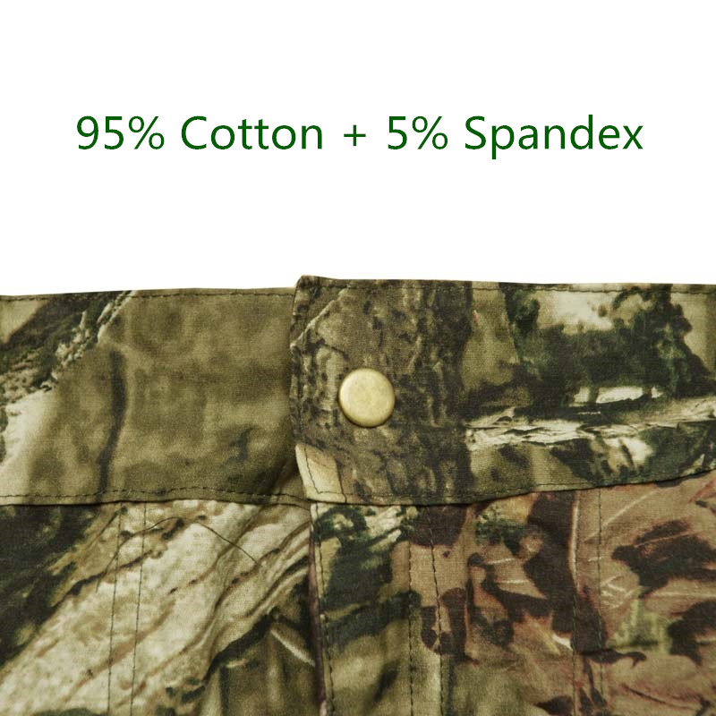 Summer Army Fan Loose Bionic Camouflage Shorts Men's Hunting Shorts Cotton Thin Breathable Casual Fishing Hiking Camping Shorts 1