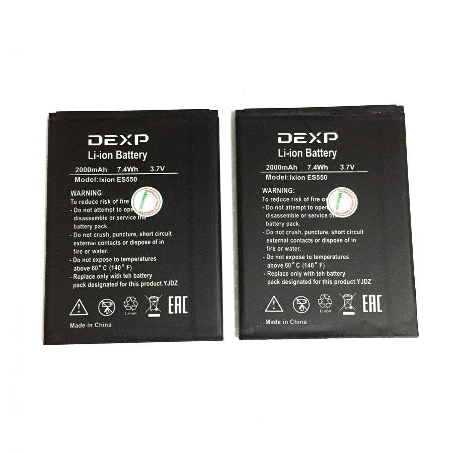Auf Lager Hoher Qualität 2000 mAh Batterie Für DEXP Ixion ES550 ES 550 Handy Bateria + Spurhaltungszahl