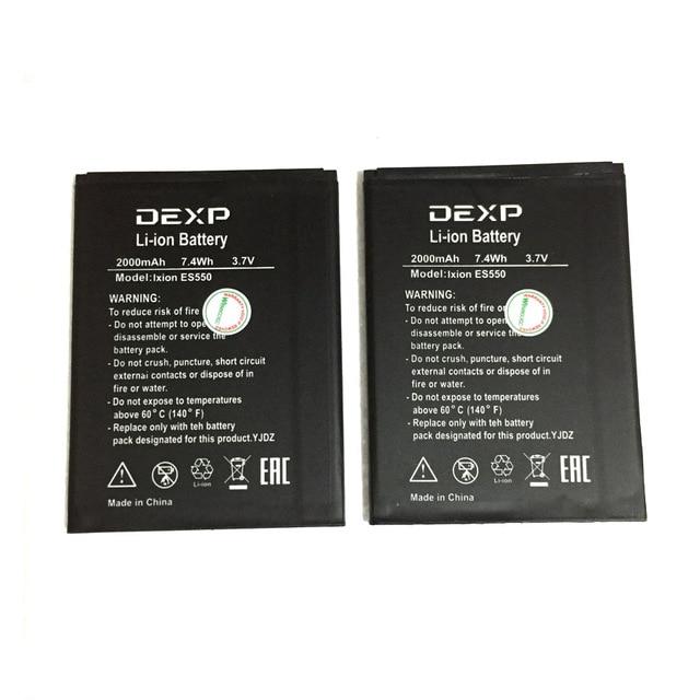Batería de alta Calidad 2000 mAh para DEXP Ixion ES550 ES 550 móvil Bateria + número de seguimiento