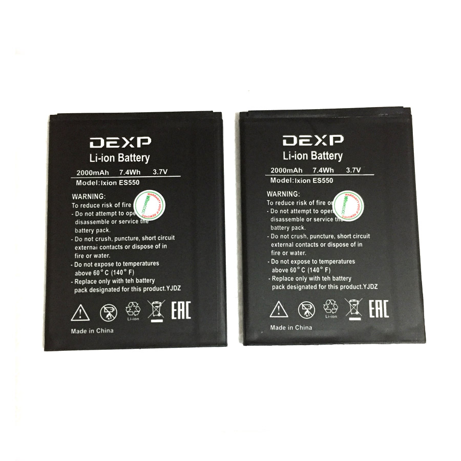 In Stock High Quality 2000mAh Battery For DEXP Ixion ES550 ES 550 Cellphone Bateria + Tracking Number