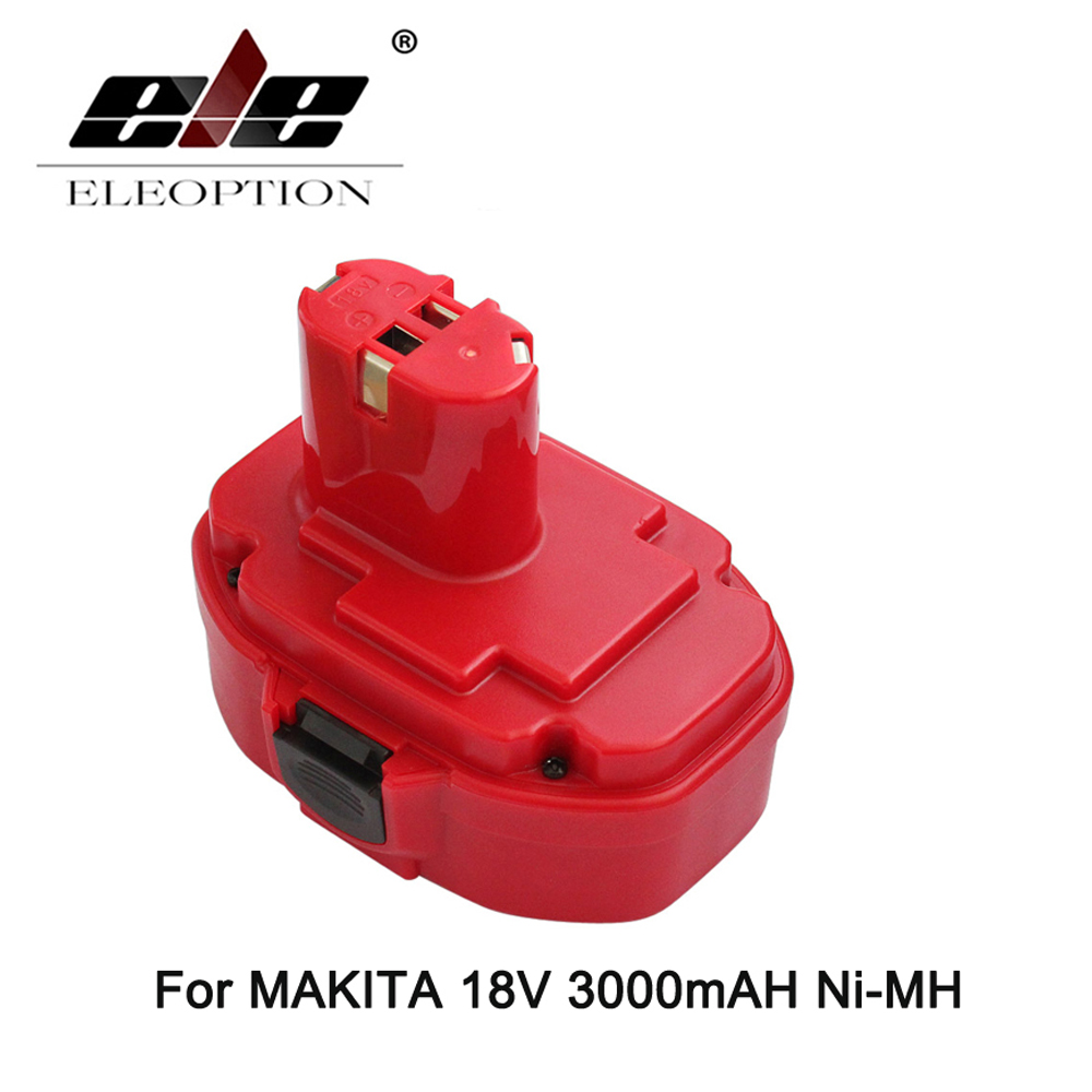 ELEOPTION For Makita 18V 3000mAh Rechargeable Battery Batteries Pack Replacement Electronics Power Tools 3000mAh Ni-MH 192827-3 24v 3000mah 3 0ah rechargeable battery pack power tools batteries cordless drill ni mh battery for makita bh2430 bh2433