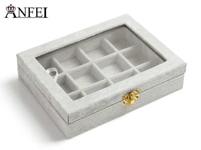 ANFEI Free shipping Necklace box makeup organizer jewellery box gift