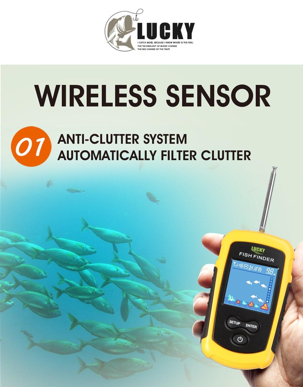 Sorte inventor de peixes sonar FFCW1108-1 sem