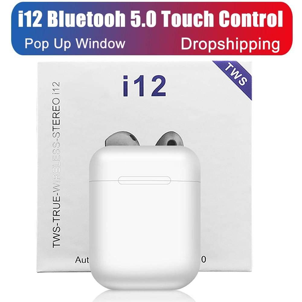 i12 Tws Bluetooth 5.0 Earphone Headset Mini Wirele