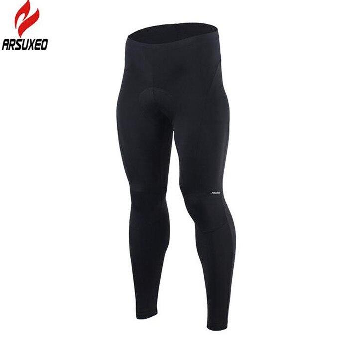 Цена за Arsuxeo мужская велоспорт брюки мужчины длинные брюки велоспорт велосипед езда велосипед колготки гель площадку велоспорт брюки дышащий quick д р