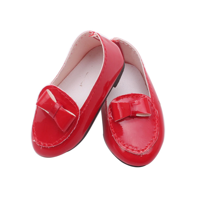 Doll Shoes Fashion Doll Red Leather Shoe 18 Inch Girl Dolls And 43 Cm Baby Doll Toy Accessories S71 Dolls Accessories Back To Search Resultstoys & Hobbies
