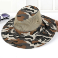 Hot Men Professional Outdoor Hiking Fishing Cap Men's Sun Hat Summer Casual Camouflage Printed Foldable Beach Jungle Cap 1876