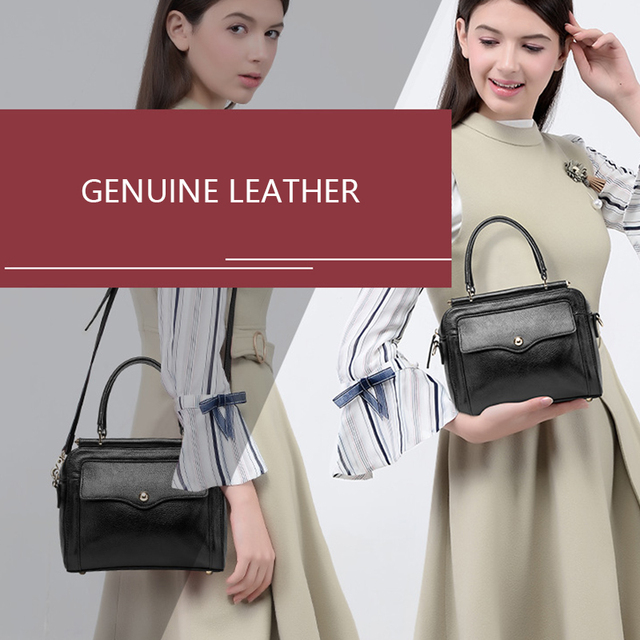 Leather Solid Handbag Daily Bag Real Leather Brand Tote Bag Flap Closure Fashion Metal Lock Luxurious Handbag Purse Women