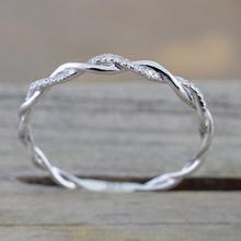 Покрытием изогнутый дизайн свадебное кольцо на палец группа простой подарки кольцо моды Обручение кольцо элегантный