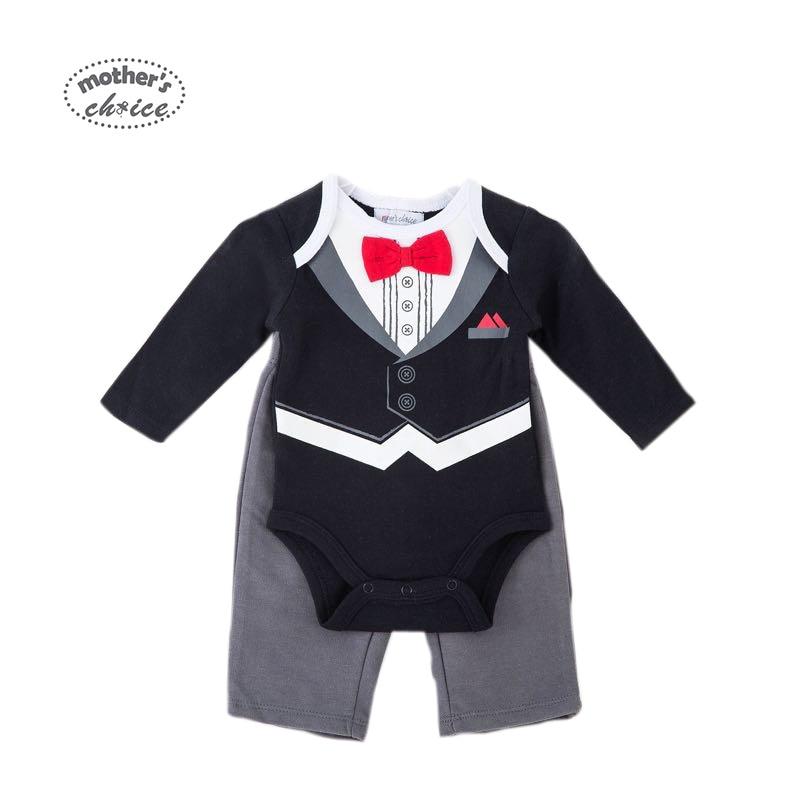 Madre de Choice Baby Set Caballero Tie Boys Ropa de verano 2 piezas - Ropa de bebé