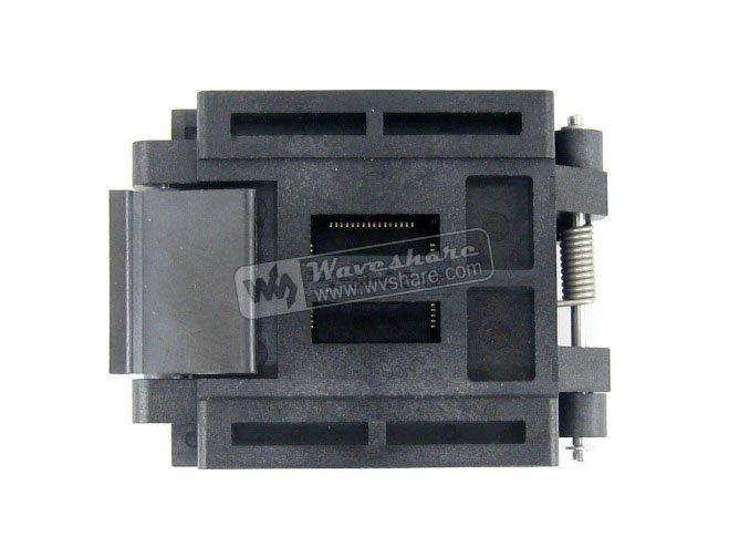 ФОТО QFP64 TQFP64 LQFP64 PQFP64 Enplas FPQ-64-0.5-06 QFP  Test Burn-In Socket 0.5mm Pitch