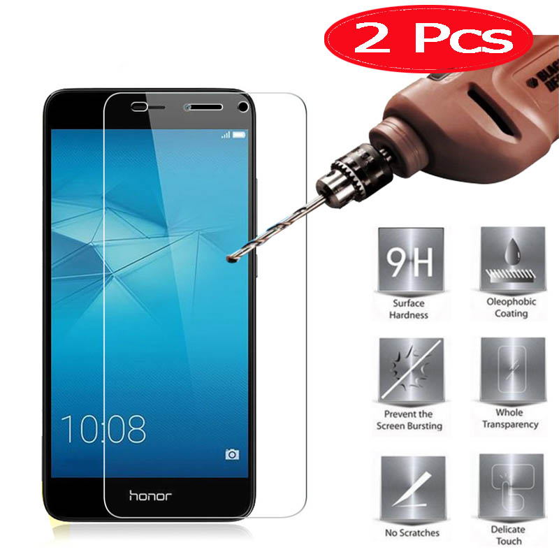 2 Pieces HOPELF Tempered Glass For Huawei Honor 5C Screen Protector Phone Film For Huawei Honor 5C Tempered Glass