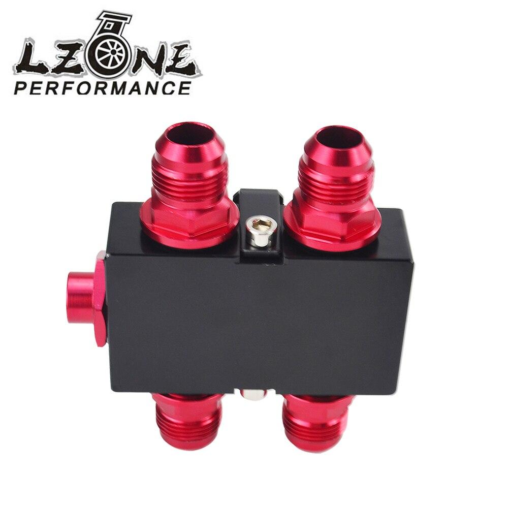 LZONE RACING-Öl Filter Sandwich Adapter Mit In-Linie Öl Thermostat AN10 fitting Öl Sandwich Adapter JR5672BK