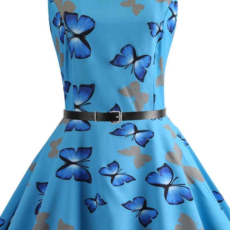 Blue Vintage Swing Dress 59