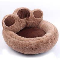 Cartoon bear palm pet nest dog beds cat sofa can be removed dog bed shelter breathable warm Footprint modeling lovely fashion
