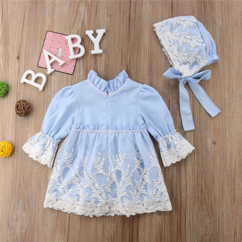 Turtleneck Princess Gown Sleeveless Baby Dress Mini Lace Toddler Girls Dress