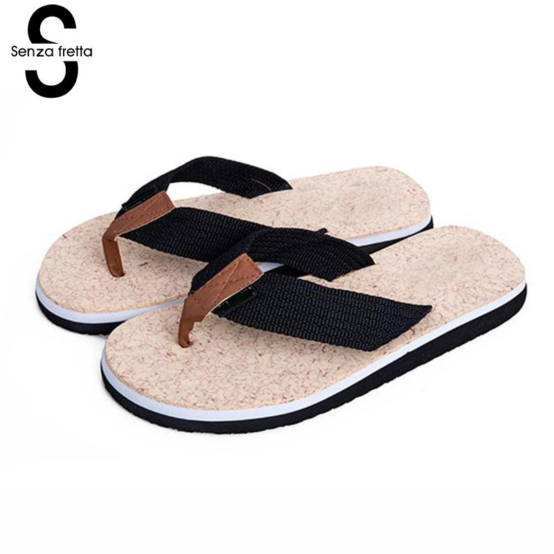 Senza Fretta 2018 Summer Beach Flip Flops Men Casual Flat Flip Flops Slippers Non-slip Slippers Beach Sandals Chinelos Homens senza fretta non slip flip flops men slippers flip flops men sandals casual summer flip flops breathable beach shoes sandals