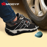 Men Steel Toe Cap Work Safety Shoes Night Reflective Casual Breathable Outdoor Hiking Boots Puncture Proof